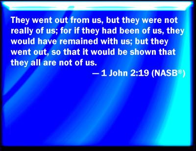 Bible Verse Powerpoint Slides For 1 John 2 19