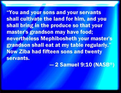 Bible Verse Powerpoint Slides For 2 Samuel 910