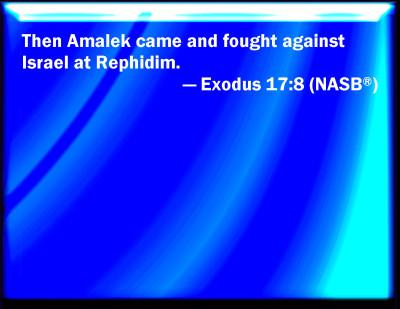 exodus 17 8 13 nrsv bible verses