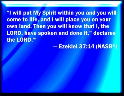 Ezekiel Bible Verses Ezekiel 37 14 Bible Verse