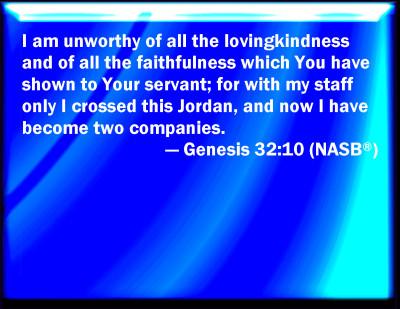 Bible Verse Powerpoint Slides For Genesis 32 10