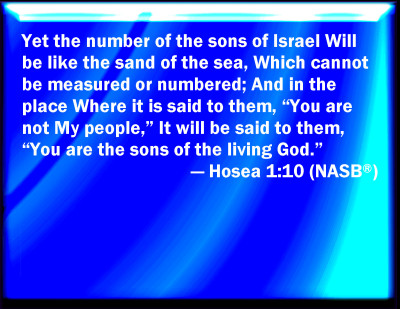 Bible Verse Powerpoint Slides For Hosea 1 10