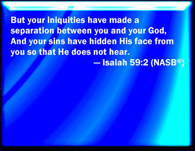 Bible Verse Powerpoint Slides For Isaiah 59 2