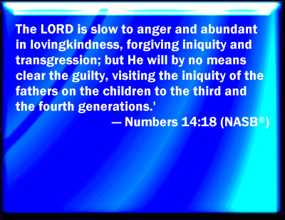 Numbers 14:18 Bible Verse Slides