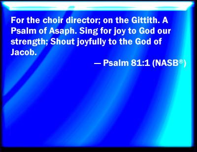 psalm 81 kjv images