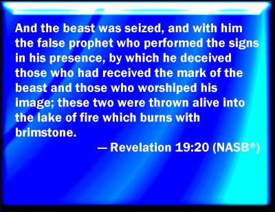 Bible Verse Powerpoint Slides for Revelation 19:20