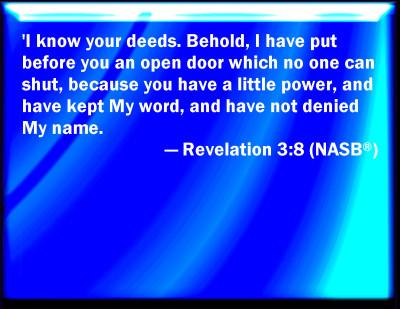 Bible Verse Powerpoint Slides For Revelation 3 8