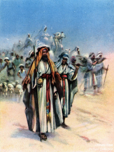 genesis 12 bible pictures abram leaves ur with his family