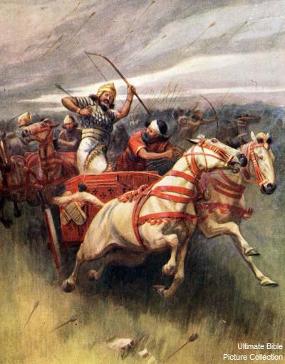 Image result for king ahab  death