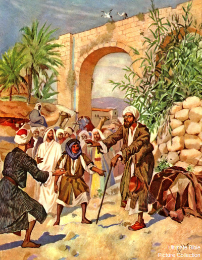 Luke 18 Bible Pictures Bartimaeus Sight Is Restored