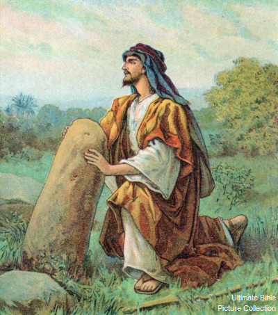 Genesis 28 Bible Pictures Jacob Sets Up Stone