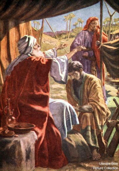 LUB NTSIAB NTAWM TXOJ KEV NTSEEG KAS TOS LIV Jacob_steals_blessing_1206-244