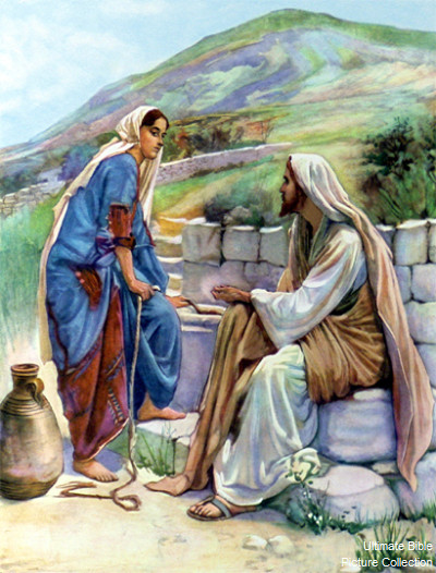 clipart jesus and the woman at the well - photo #18
