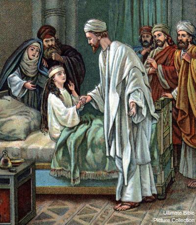 Matthew 15 Bible Pictures: Jesus heals girl