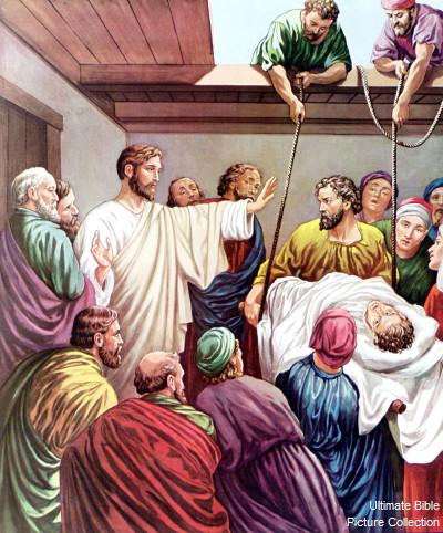 Mark 2 Bible Pictures Jesus Heals A Paralytic