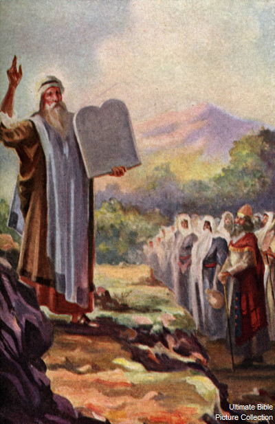 Exodus 32 Bible Pictures: Moses brings Ten Commandments from Mount ...