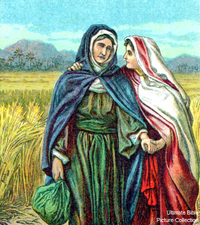 Ruth 3 Bible Pictures: Ruth speaks to Naomi