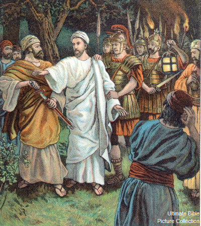 John 18 Bible Pictures Soldiers Take Jesus From Garden Of Gethsemane