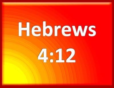 Bible Verse Powerpoint Slides for Hebrews 4:12