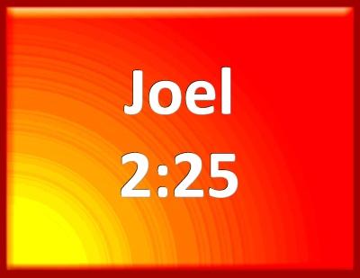 Bible Verse Powerpoint Slides For Joel 2 25