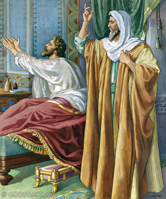 Image result for Hezekiah is visited by isaiah