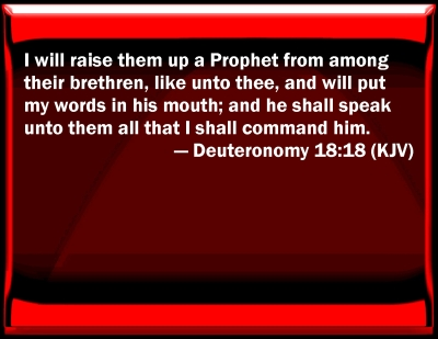 Image result for Deuteronomy 18: 18