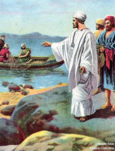 Matthew 4 Bible Pictures Jesus Calls Peter James And John