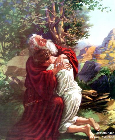 Abraham et son fils Isaac