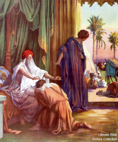 Genesis 28 Bible Pictures Isaac Blessing Jacob Instead Of